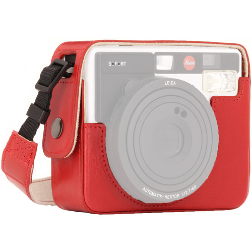 MegaGear Ever Ready PU Leather Camera Case for Leica Sofort Instant (Orange)