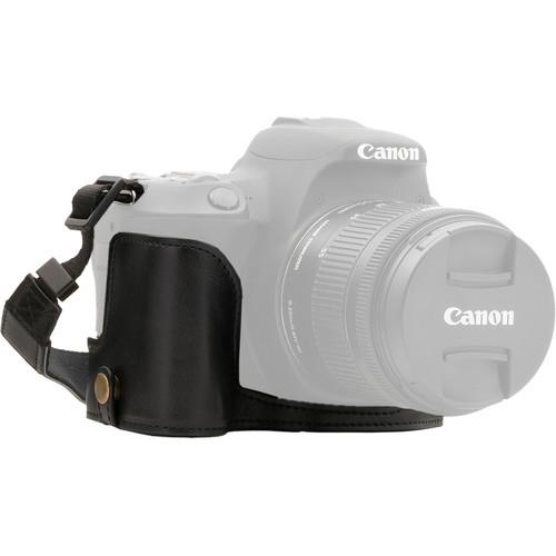 MegaGear Ever Ready Half Case and Strap for Canon EOS Rebel SL2, EOS 200D, Kiss X9 (Black)
