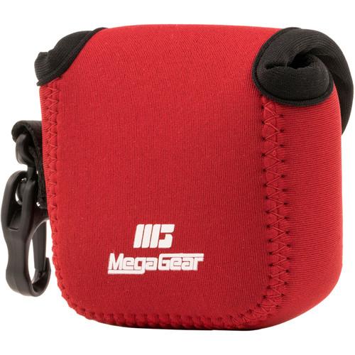 MegaGear Ultralight Neoprene Camera Case for Gopro Hero 6, Hero 5 and Sony RX0 1.0 (Red)