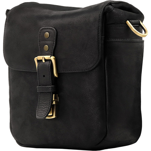 MegaGear Leather Camera Messenger Bag (Black)