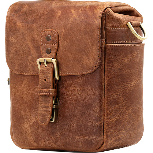 MegaGear Leather Camera Messenger Bag (Brown)