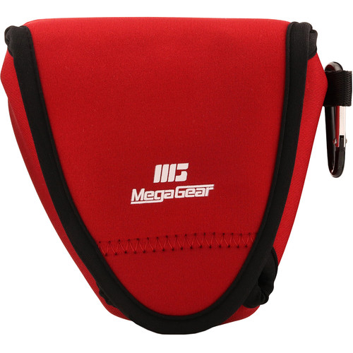 MegaGear Ultra-Light Neoprene Camera Case with Carabiner for Fujifilm X-E3 (Red)