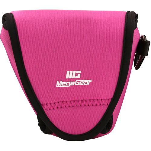 MegaGear Ultra-Light Neoprene Camera Case with Carabiner for Fujifilm X-E3 (Hot Pink)