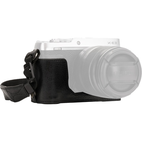 MegaGear Ever Ready Leather Half Case and Strap for Fujifilm X-E3 (Black)