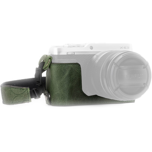 MegaGear Ever Ready Leather Half Case and Strap for Fujifilm X-E3 (Green)