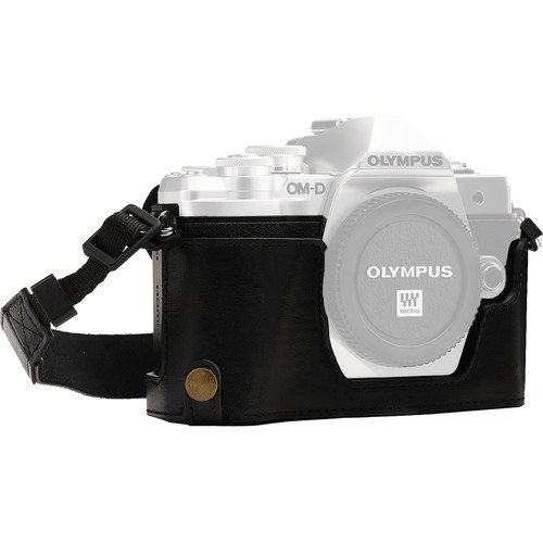MegaGear Ever Ready Half Case and Strap for Olympus OM-D E-M10 Mark III (Black)