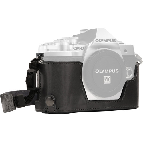 MegaGear Ever Ready Half Case and Strap for Olympus OM-D E-M10 Mark III (Gray)