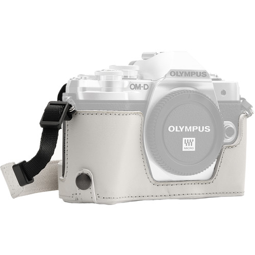 MegaGear Ever Ready Half Case and Strap for Olympus OM-D E-M10 Mark III (White)