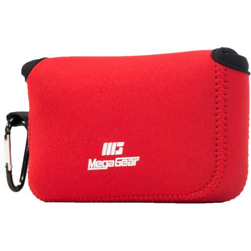 MegaGear Ultralight Neoprene Camera Case for Canon PowerShot G1X Mark III (Red)