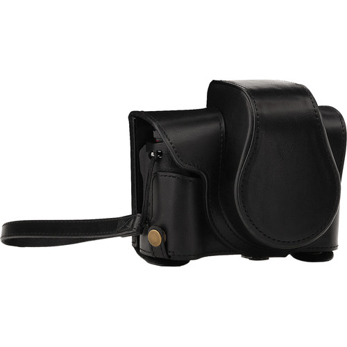 MegaGear Ever Ready Camera Case and Strap for Canon PowerShot G1X Mark III (Black)