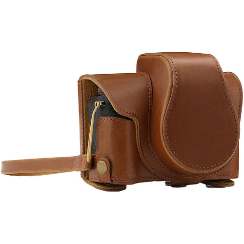 MegaGear Ever Ready Camera Case and Strap for Canon PowerShot G1X Mark III (Light Brown)