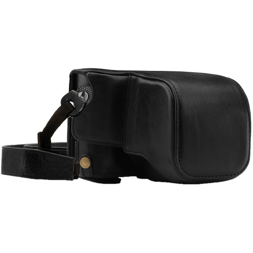 MegaGear Ever Ready Genuine Leather Camera Case and Strap for Leica Q-P, Q Type 116 (Black)