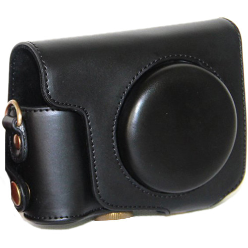 MegaGear Ever Ready Protective Black Leather Camera Case, Bag for Canon Powershot SX170 IS