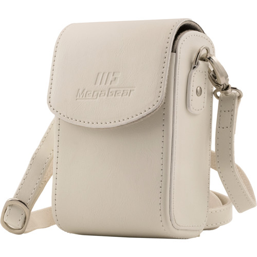 MegaGear MG1412 Samsung WB350F Leather Camera Case with Strap (White)