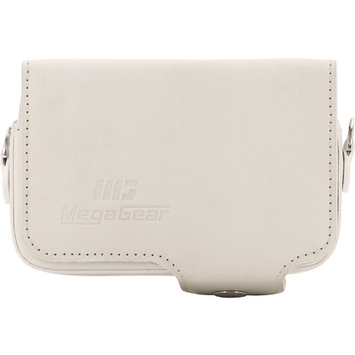MegaGear Leather Case with Belt Loop for Select Sony Cyber-shot Cameras (White)