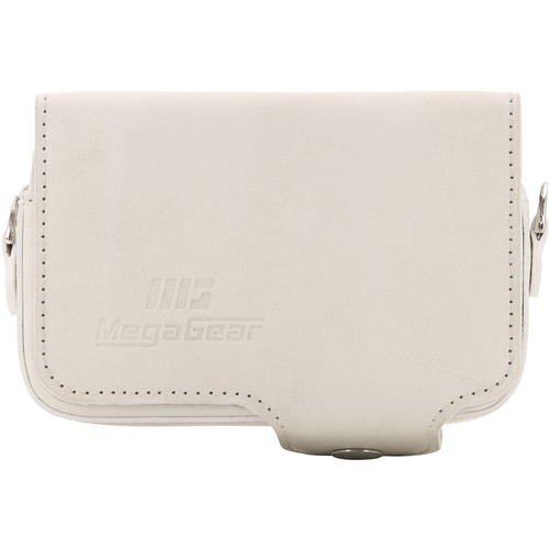 MegaGear Leather Case with Belt Loop for Select RX100 Series Cameras (White)