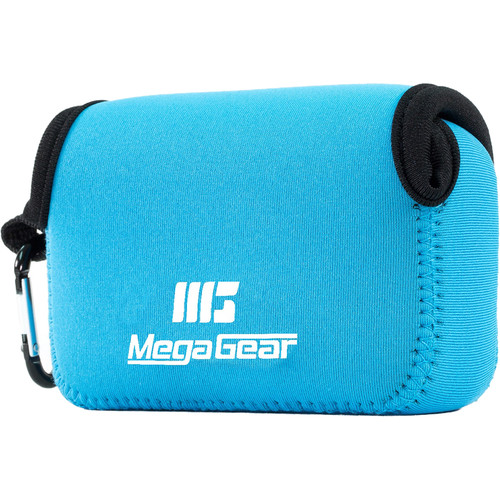 MegaGear Ultralight Neoprene Camera Case for Panasonic Lumix ZS200, TZ200, Leica C-Lux (Blue)
