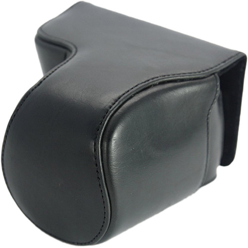 MegaGear Ever Ready Protective Leather Camera Case, Bag for Canon SX510 HS, Canon Powershot SX520 HS (Black)