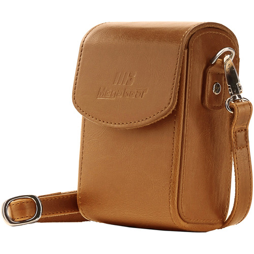 MegaGear Leather Camera Case with Strap for Panasonic Lumix ZS200, TZ200, Leica C-Lux (Light Brown)