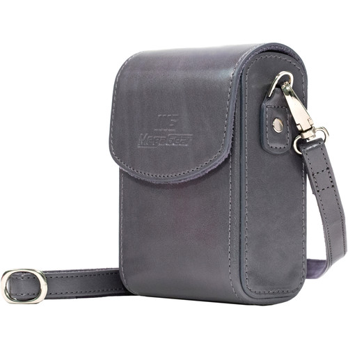 MegaGear Leather Camera Case with Strap for Panasonic Lumix ZS200, TZ200, Leica C-Lux (Gray)