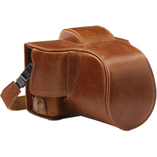 MegaGear Ever Ready Genuine Leather Case and Strap for Fujifilm X-T100 with 15-45mm Lens (Brown)