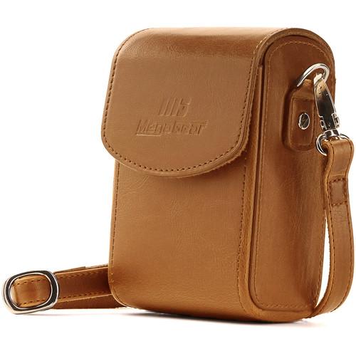 MegaGear PU Leather Case with Strap for Sony Cyber-shot DSC-RX100 VI, DSC-RX100 V, DSC-RX100 IV (Light Brown)