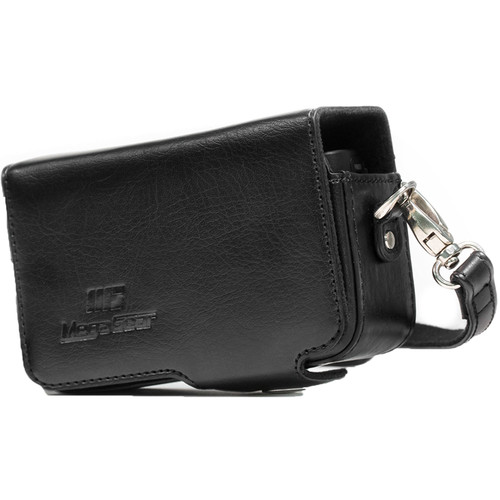 MegaGear PU Leather Case with Strap for Canon PowerShot SX740 HS, SX730 HS (Black)