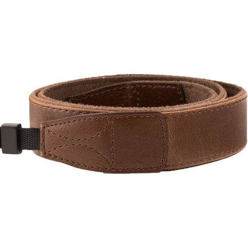 MegaGear DSLR Leather Shoulder Strap (Dark Brown)