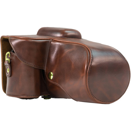 MegaGear Ever Ready Leather Camera Case for Nikon D5200 with 18-55mm VR Lens (Brown)