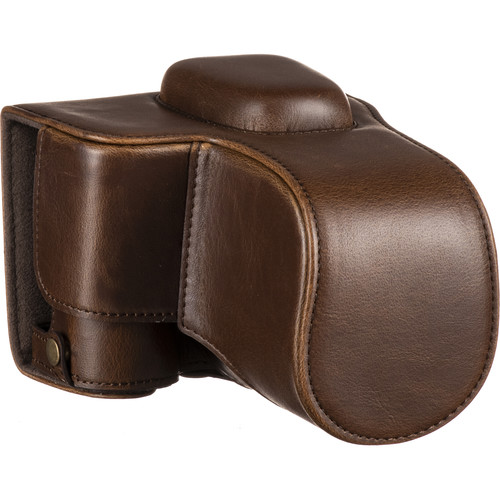 MegaGear Ever Ready PU Leather Case and Strap for Nikon D3500 (Dark Brown)