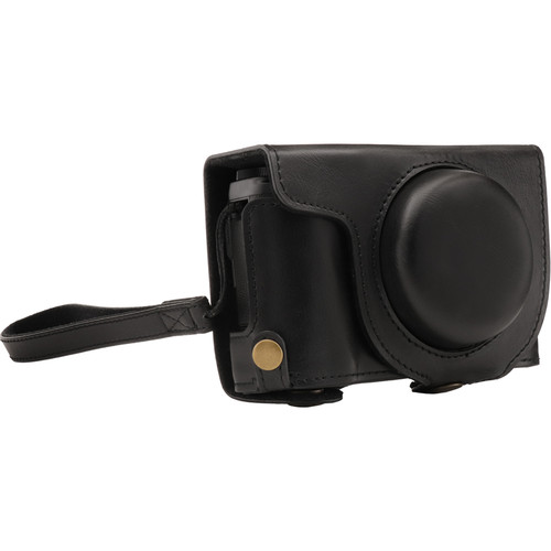 MegaGear Ever Ready PU Leather Camera Case and Strap for Fujifilm XF10 (Black)