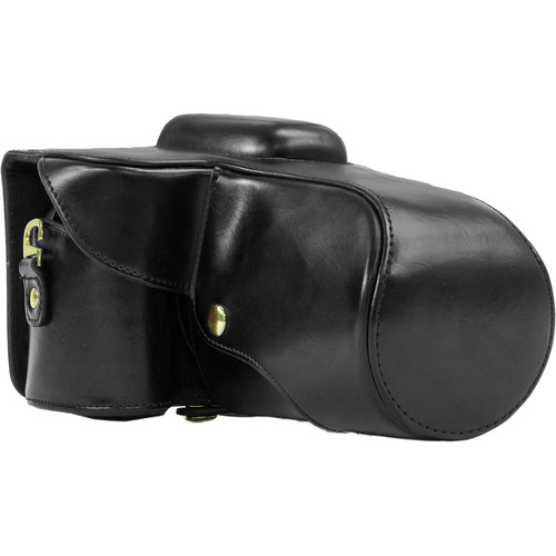 MegaGear Ever Ready PU Leather Case for Nikon D5300 with 18-55, 18-135, or 18-200mm VR Lens (Black)
