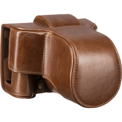 MegaGear Ever Ready Leather Case & Strap for Fujifilm X-T3 with XF 23, 56, or 18-55mm Lens (Brown)