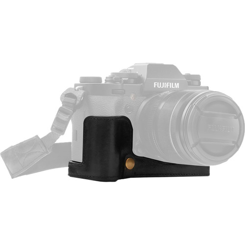 MegaGear Fujifilm X-T3 Ever Ready Genuine Leather Camera Half Case and Strap (Black)