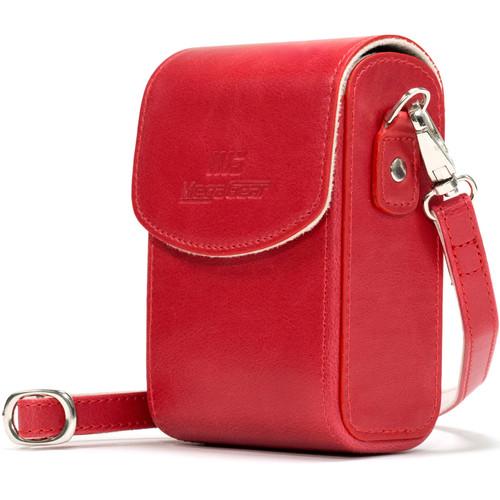 MegaGear PU Leather Case with Strap for Sony Cyber-shot DSC-RX100 VI, DSC-RX100 V, DSC-RX100 IV (White)