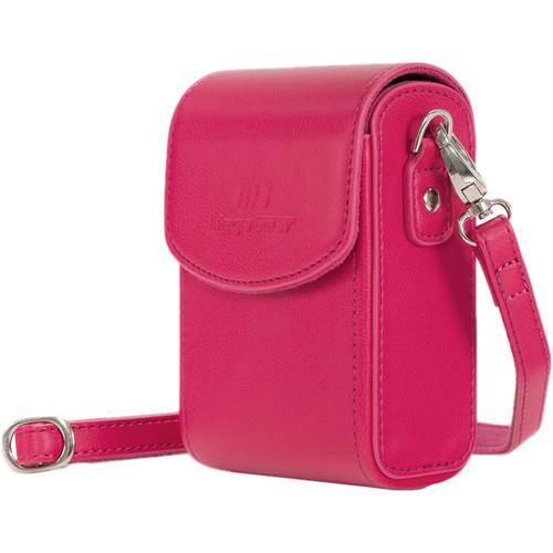 MegaGear PU Leather Case with Strap for Sony Cyber-shot DSC-RX100 VI, DSC-RX100 V, DSC-RX100 IV (Hot Pink)