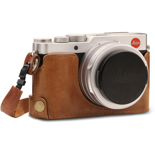 MegaGear MG1604 Ever Ready Genuine Leather Camera Half Case for Leica D-Lux 7 (Brown)