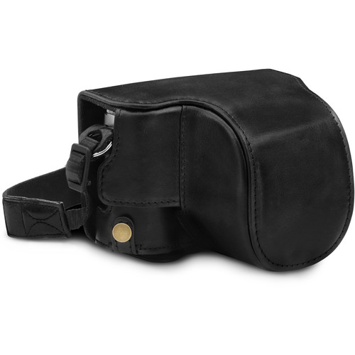 MegaGear Ever Ready Genuine Leather Camera Full Case and Stap for Leica D-Lux 7 (Black)