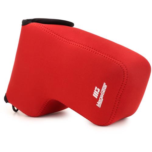 MegaGear Ultralight Neoprene Camera Case for Nikon Coolpix P1000 (Red)