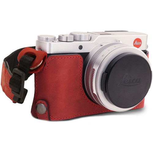 MegaGear Leica D-Lux 7 Ever Ready Genuine Leather Camera Half Case (Red)