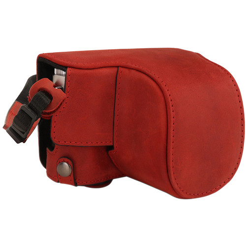 MegaGear Leica D-Lux 7 Ever Ready Genuine Leather Camera Full Case (Red)