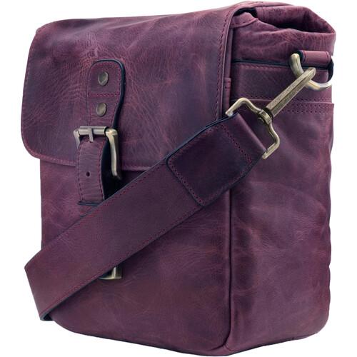 MegaGear TorresMini Genuine Leather Camera Messenger Bag (Maroon)