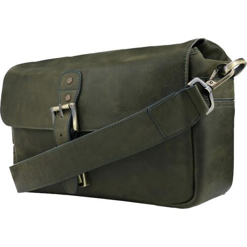 MegaGear Torres Genuine Leather Camera Messenger Bag (Green)