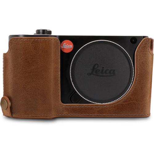 MegaGear Ever Ready Leather Half-Bottom Camera Case for Leica TL2, TL (Dark Brown)