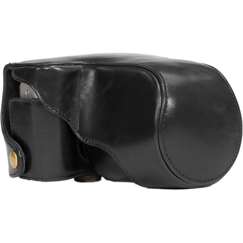 MegaGear Ever Ready Leather Camera Case for Fujifilm X-M1 & X-A1 with 16-50mm (Black)