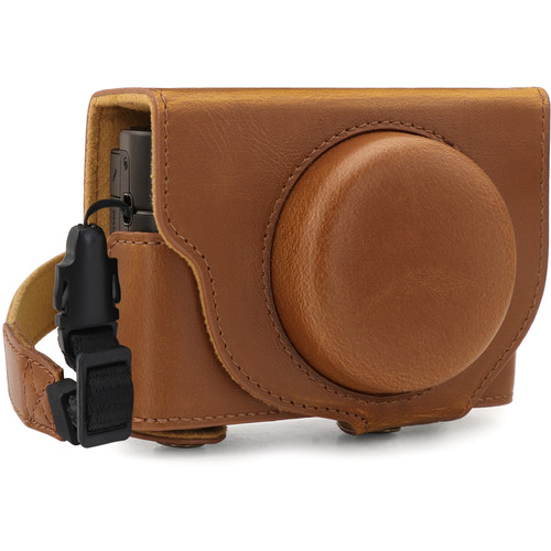 MegaGear Ever Ready PU Leather Camera Case for Sony Cyber-shot DSC-RX100 VII (Light Brown)