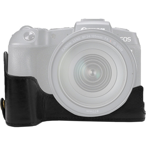 MegaGear Ever Ready Genuine Leather Half Case for Canon EOS RP (Black)