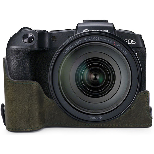 MegaGear Ever Ready Genuine Leather Half Case for Canon EOS RP (Green)