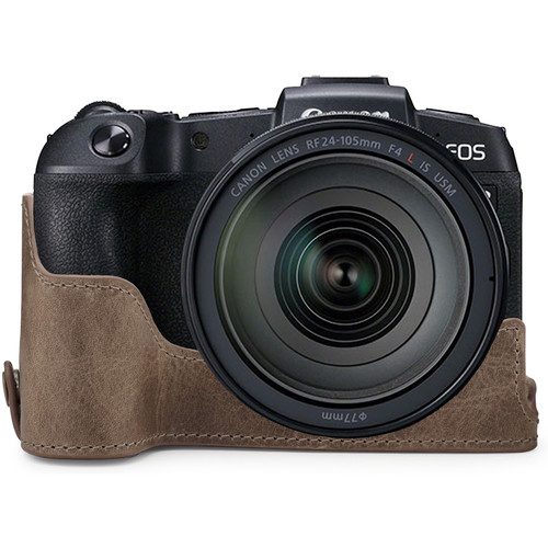 MegaGear Ever Ready Genuine Leather Half Case for Canon EOS RP (Mink)
