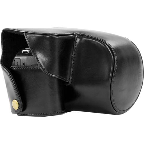 MegaGear Ever Ready Protective Black Leather Camera Case, Bag for Panasonic DMC-FZ200